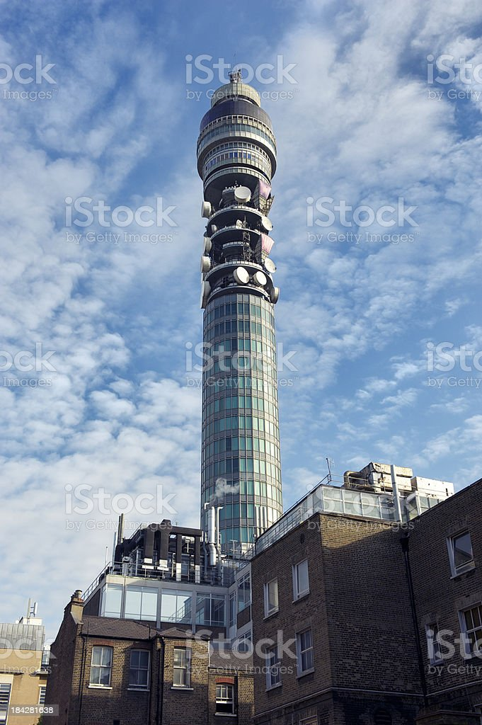 Communications Tower Blue Sky stock photo