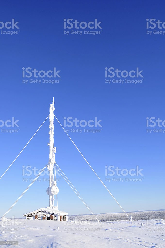 Communications tower in the Arctic royalty-free stock photo