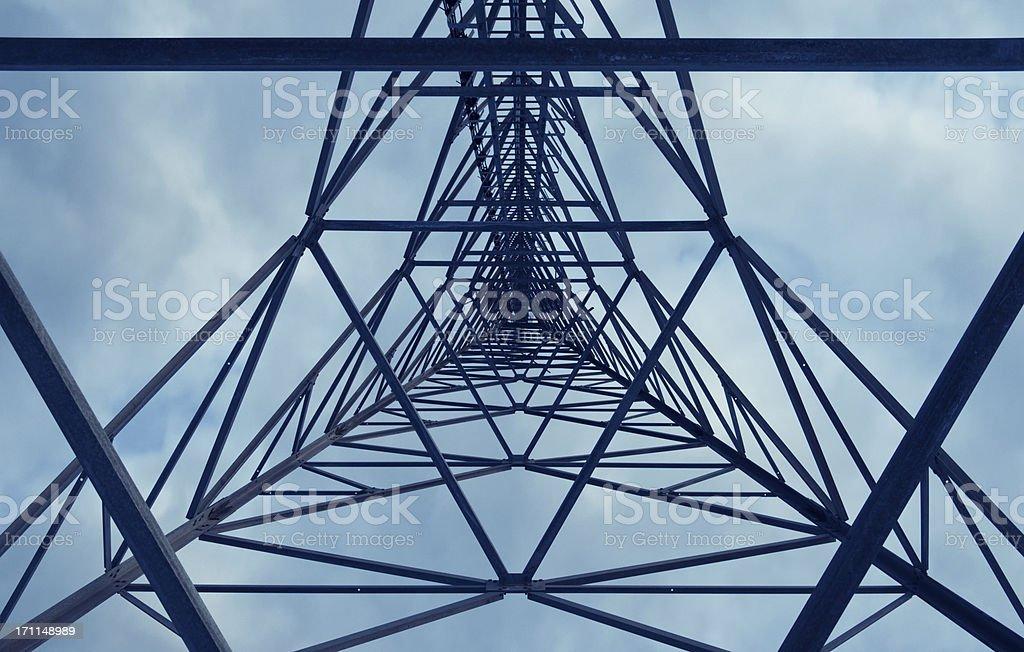 Torre delle telecomunicazioni - Foto stock royalty-free di Acciaio