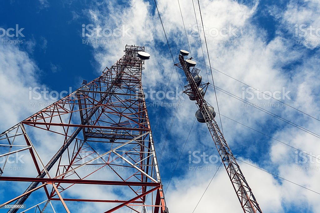 Communications Towers stock photo