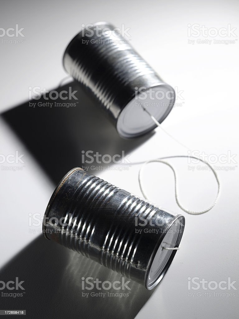 Communications-Tin Can 2 royalty-free stock photo