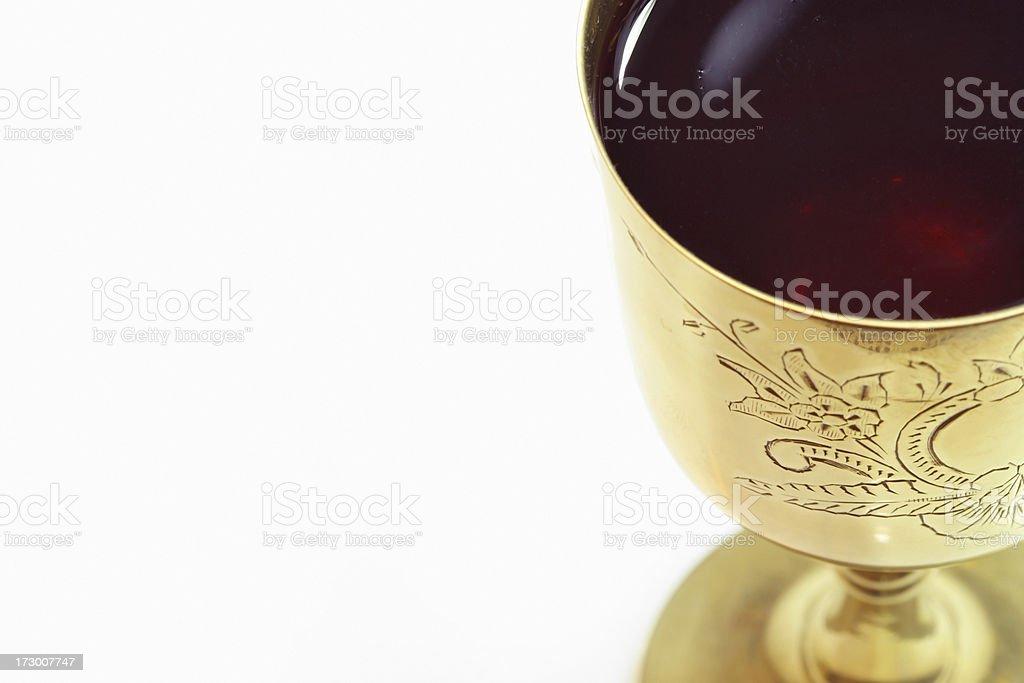 Communion Chalice wine stock photo