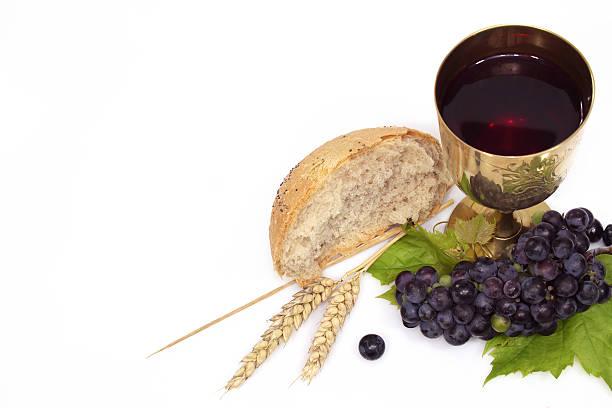 communion composition stock photo