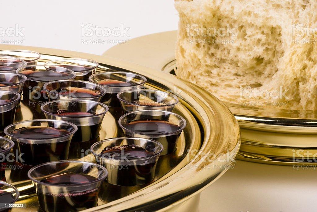 Communion Elements stock photo