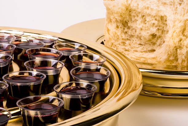 communion elements - communion stock photos and pictures