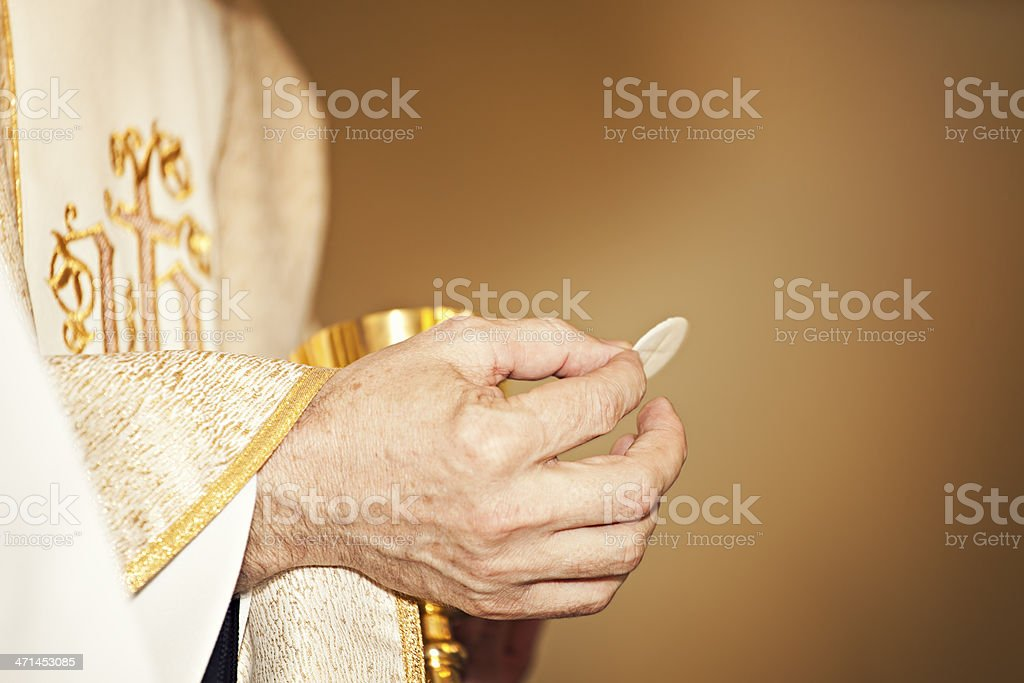 Communion Host stock photo