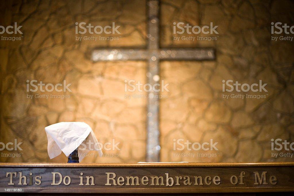Communion Table stock photo