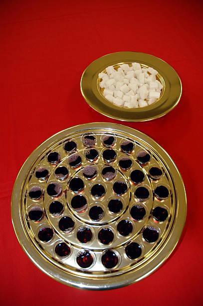 Communion Trays stock photo