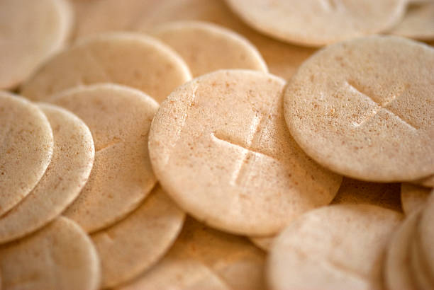 communion wafers - communion stock photos and pictures