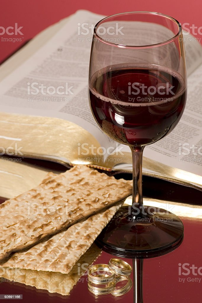 Communion with wedding bands royalty-free stock photo