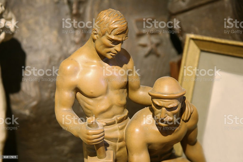 Communism working class heroes royalty-free stock photo