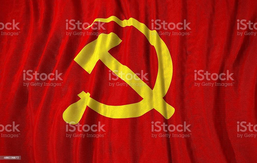 Communist flag 3d illustration stock photo