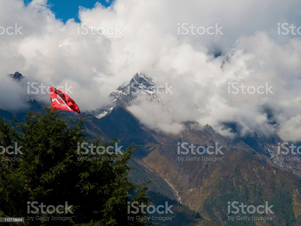 Communist Flag royalty-free stock photo