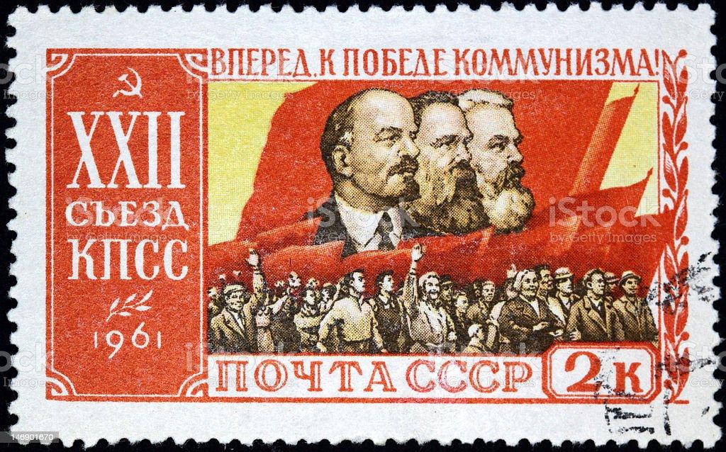 Communist stamp royalty-free stock photo