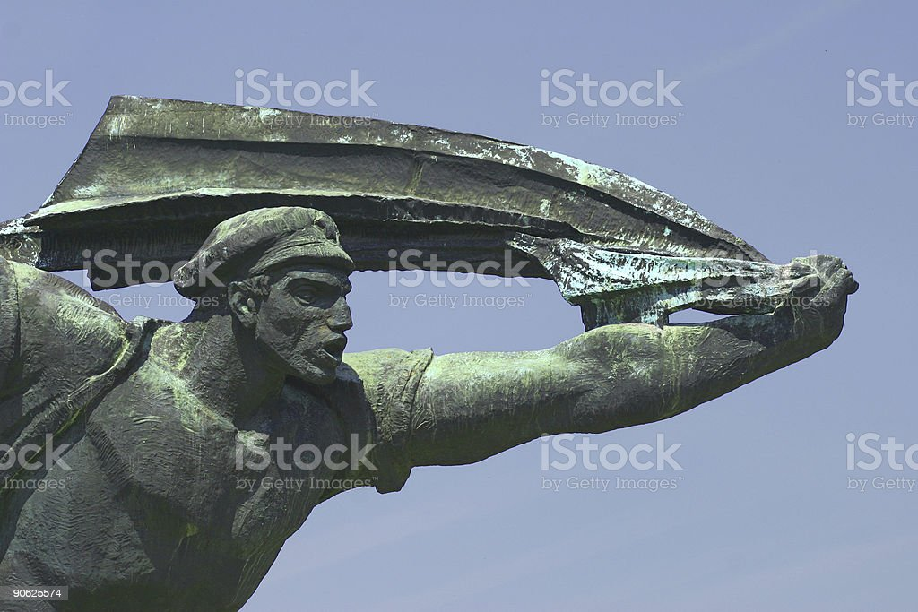 Communist Statue 2 royalty-free stock photo
