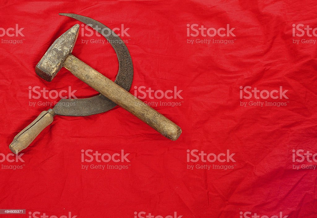 Communist symbol. stock photo