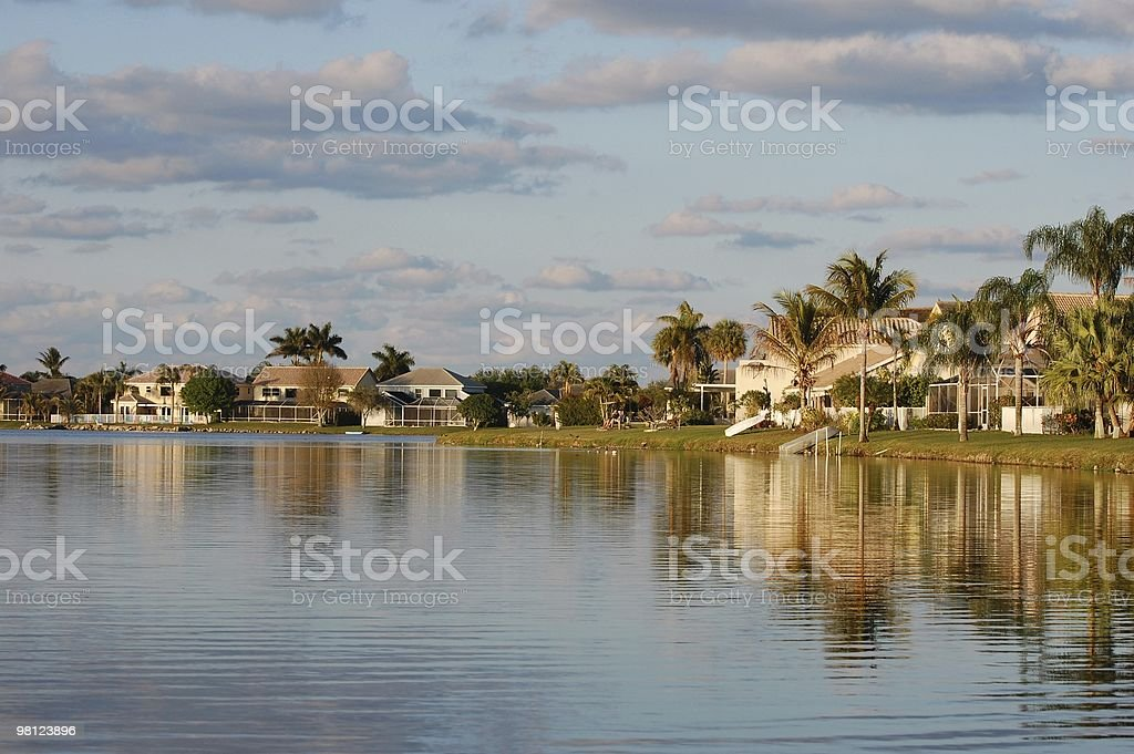 Community along a Lake royalty-free stock photo