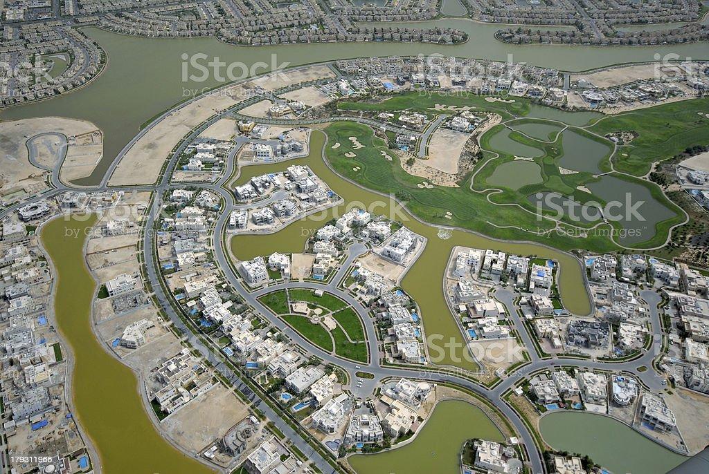 Community Around A Golf Course stock photo
