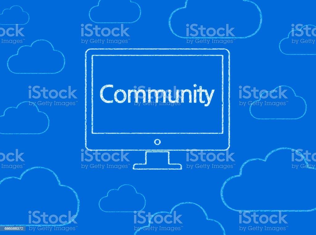Community - Business Chalkboard Background royalty-free stock photo