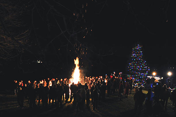 Community Weihnachten Kamin – Foto
