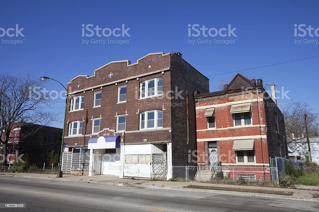 Community Church in West Englewood, Chicago royalty-free stock photo