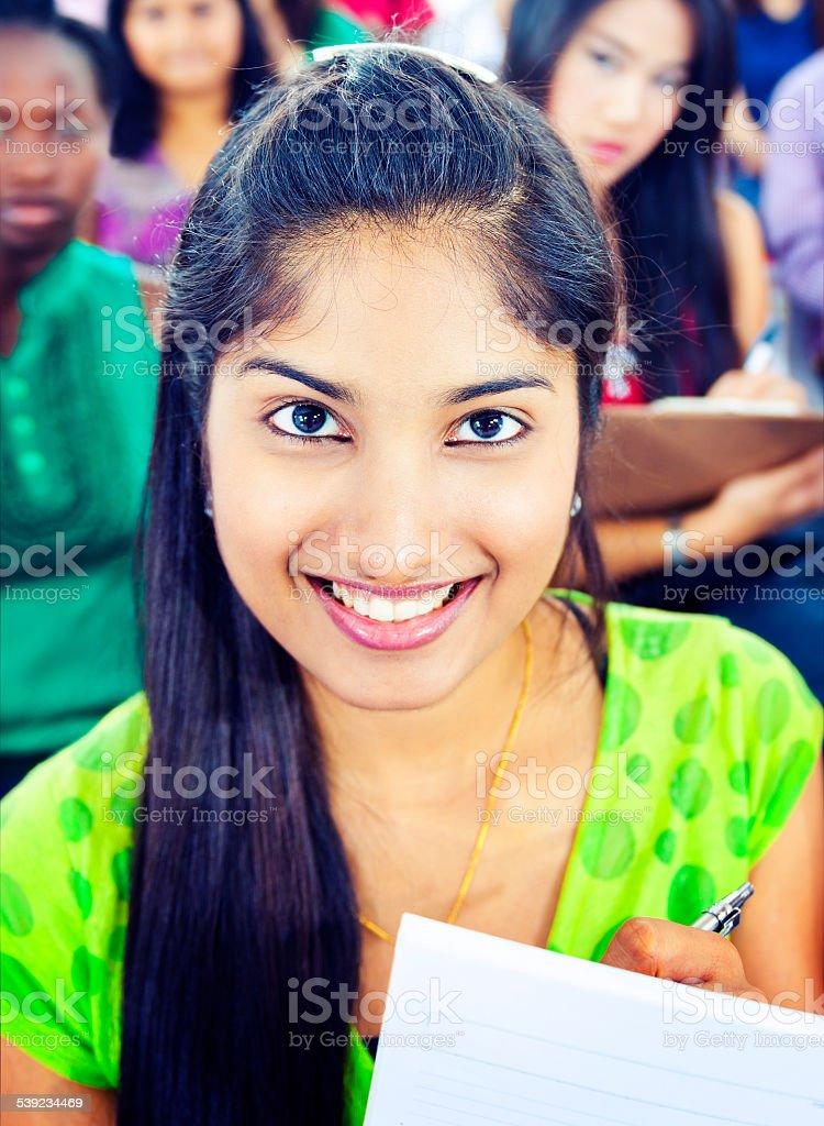 Comunidad diversidad e hindú concepto de aprendizaje de equipo foto de stock libre de derechos