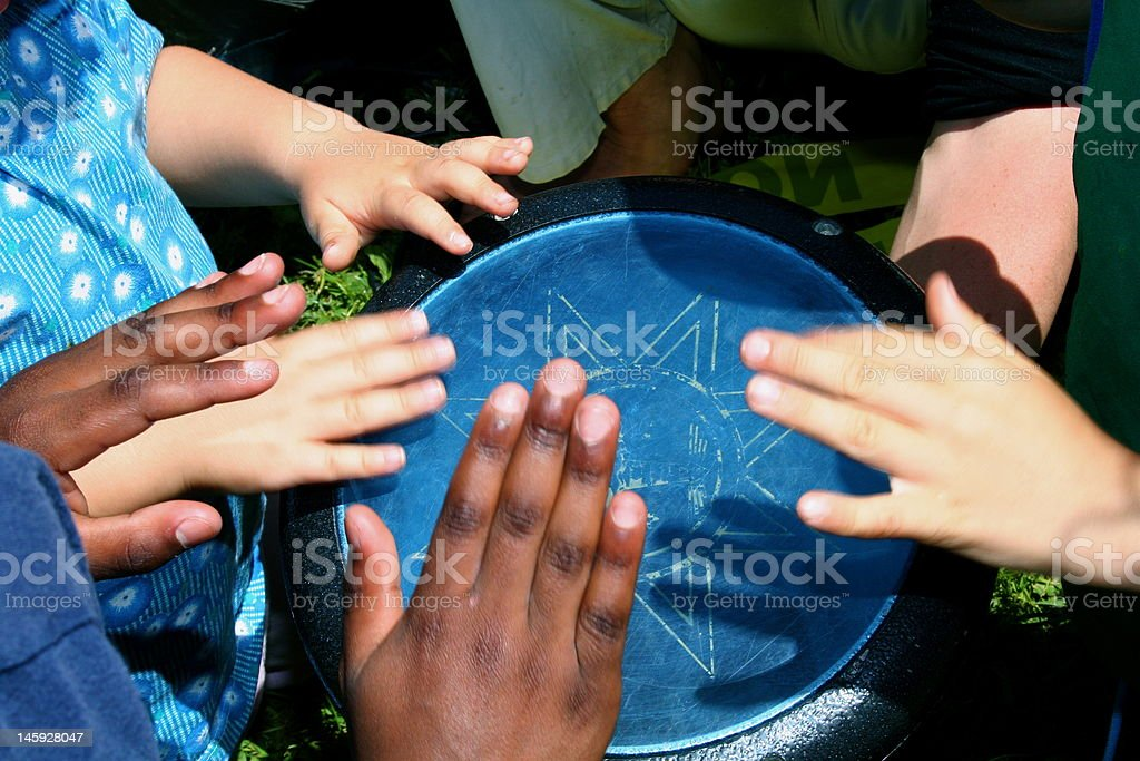 Community Drum stock photo