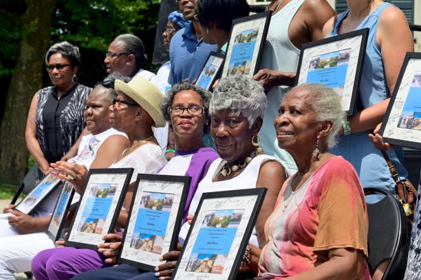 Community Festival in Germantown's Vernon Park, in Philadelphia, PA stock photo