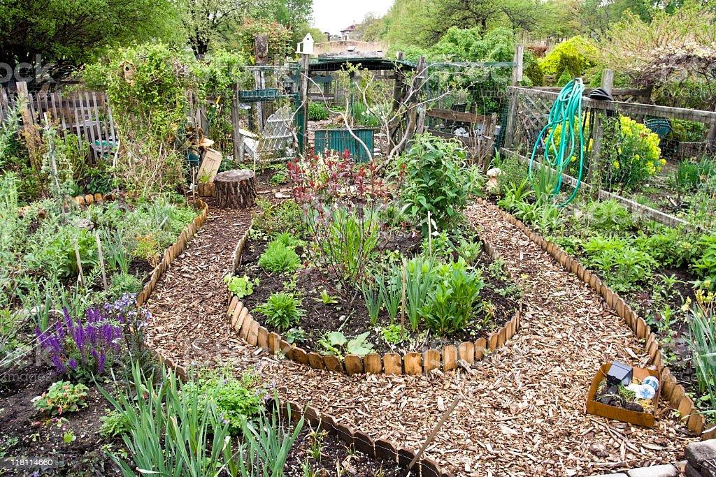 Jardim comunitário - foto de acervo
