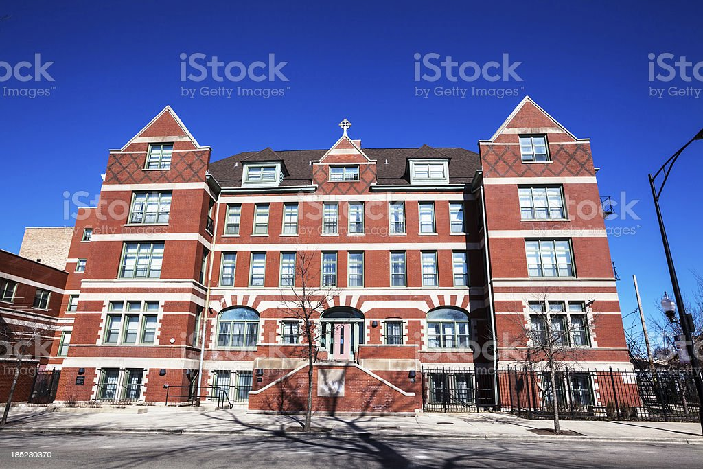 Community Housing Building in East Garfield Park, Chicago royalty-free stock photo
