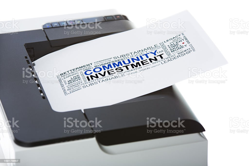 Community Investment royalty-free stock photo