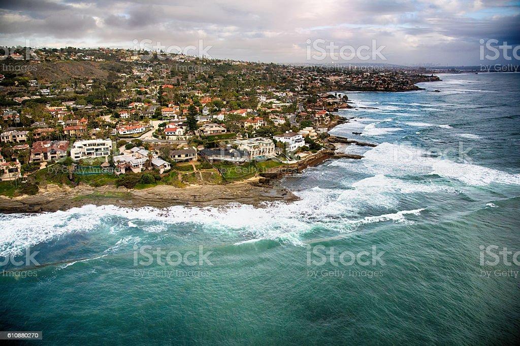 Community of La Jolla California Aerial stock photo