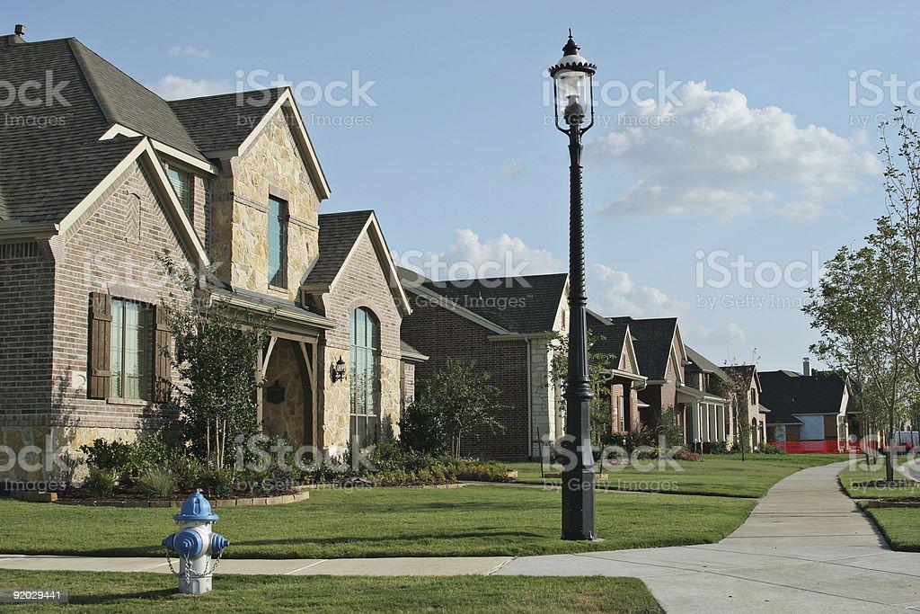 Community of single family homes stock photo