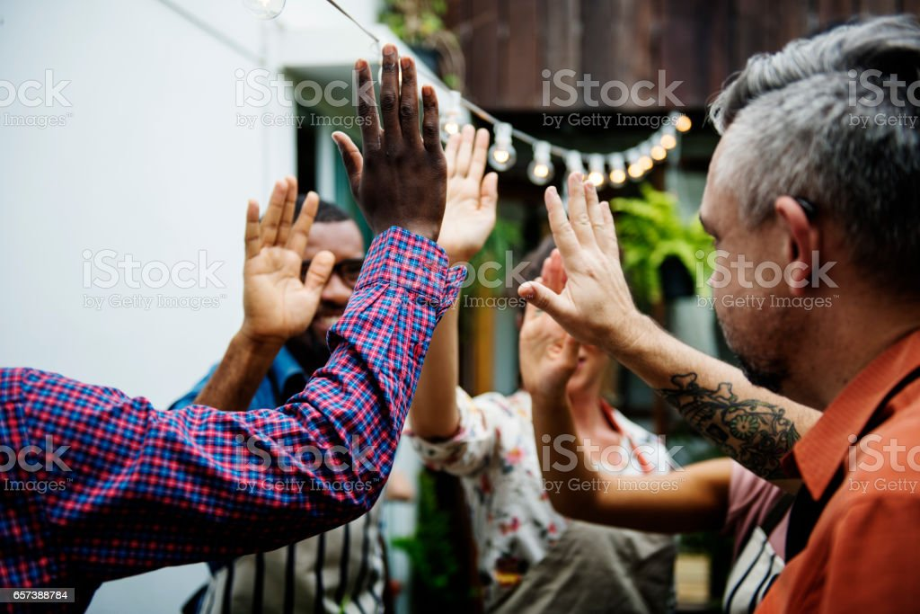 Community people support teamwork together stock photo