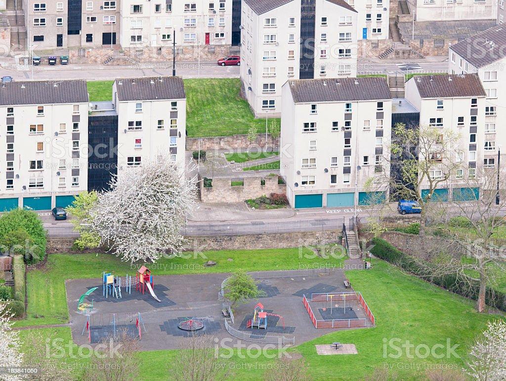Community Playground in Housing Estate royalty-free stock photo