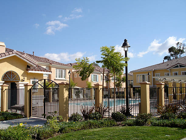 Community Pool Community Pool in new home development gated community stock pictures, royalty-free photos & images