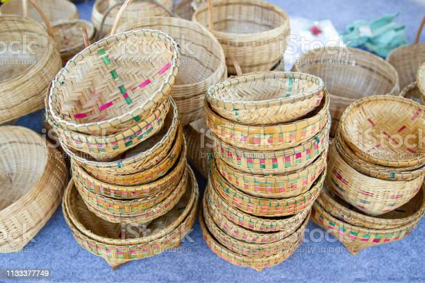 Community Products Weaving A Wicker Basket Basketry Fruit Basket Products By Handmade Stock Photo Download Image Now Istock