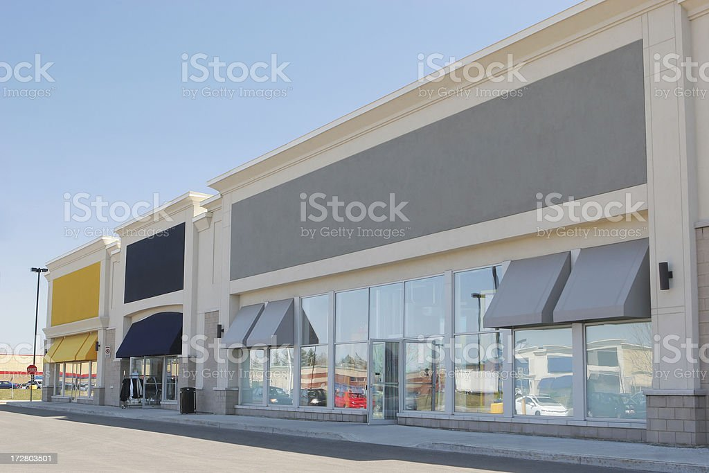 Community Strip Mall-Stores – Foto
