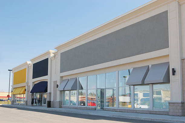 Community Strip Mall Stores stock photo