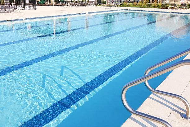 community swimming pool at North Carolina, USA stock photo