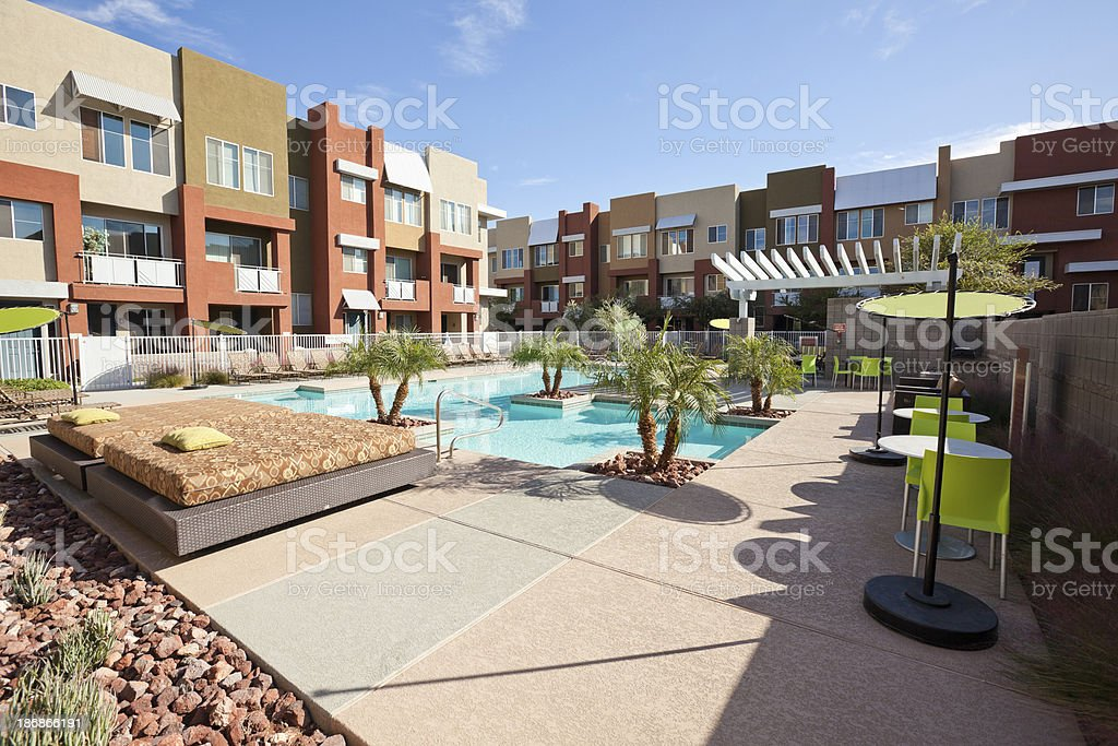 Community Swimming Pool stock photo