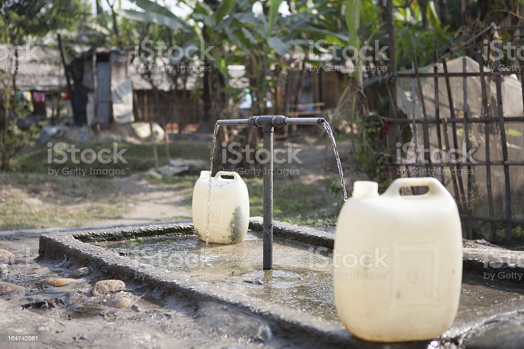 Community Tap in a remote village royalty-free stock photo