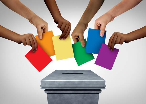 LGBT Community Vote stock photo