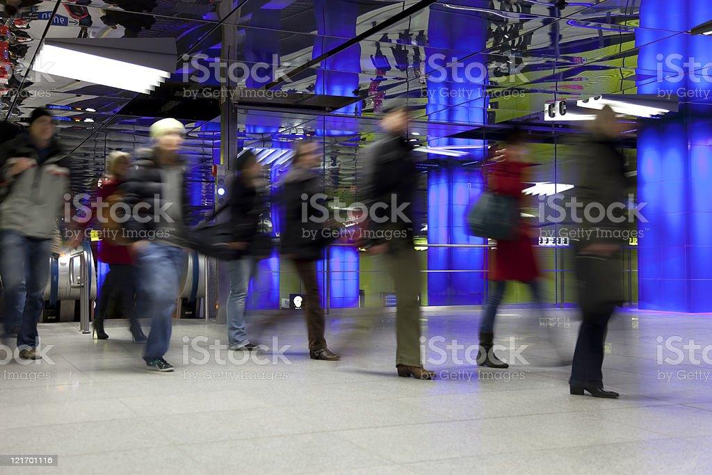 commuter at modern underground royalty-free stock photo