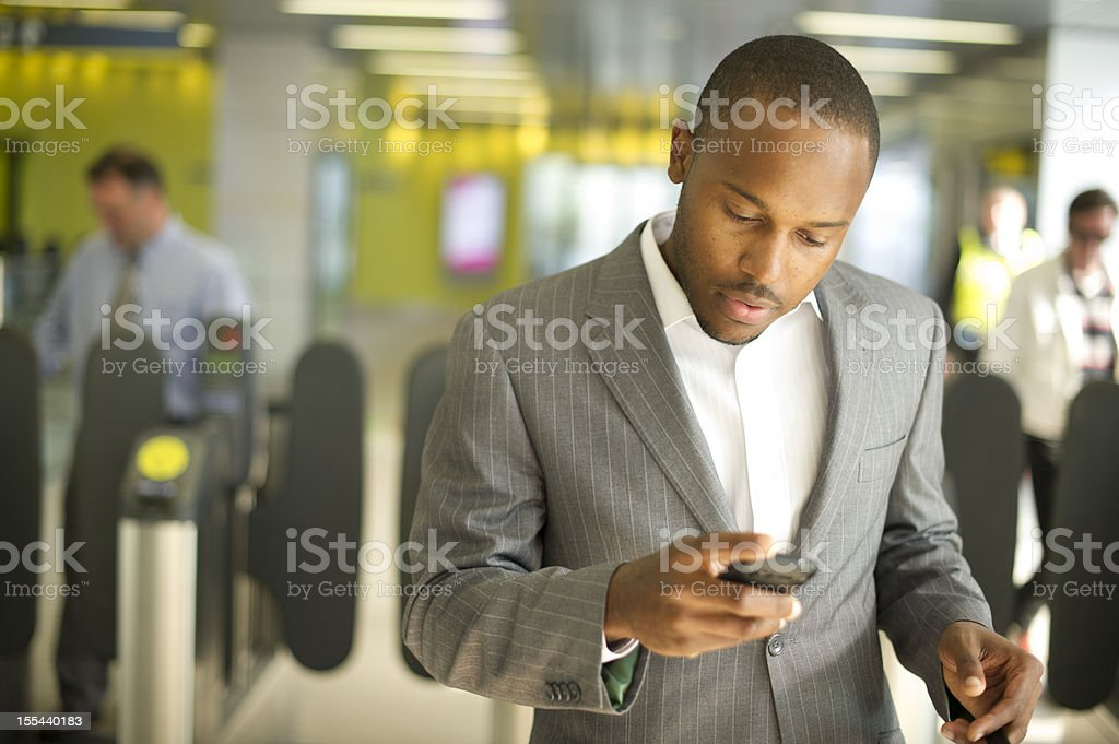 commuter at train station royalty-free stock photo