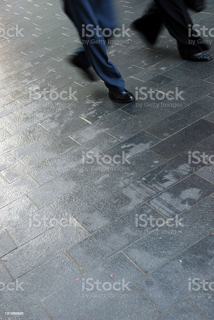 Commuter couple royalty-free stock photo