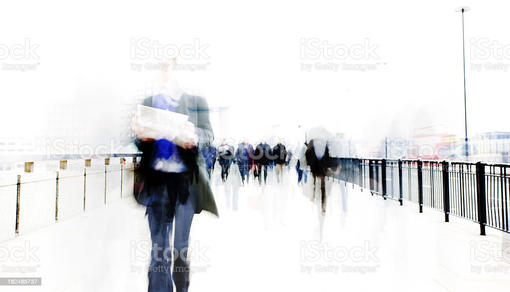 Commuter flow royalty-free stock photo