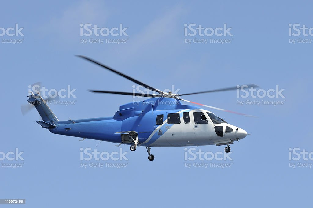 Commuter Helicopter royalty-free stock photo