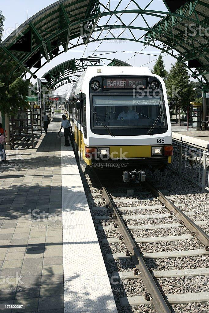 Commuter Light Rail stock photo
