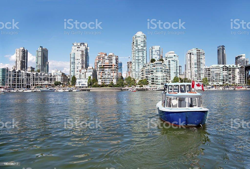 Commuter Passenger Ferry in False Creek, Vancouver, British Colu stock photo